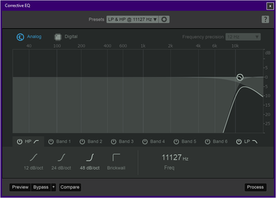 "A typical ""corrective EQ"" I might have used with one of these files."